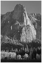 Sentinel Rock, late afternoon. Yosemite National Park ( black and white)