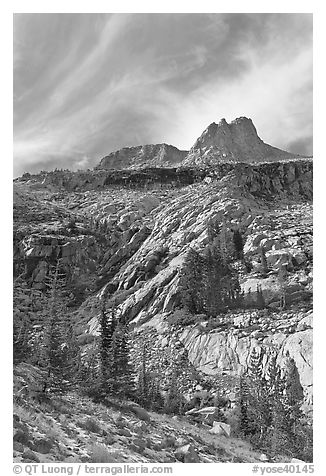 Mount Hoffman. Yosemite National Park (black and white)