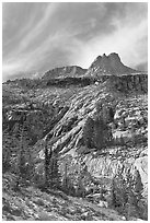 Mount Hoffman. Yosemite National Park ( black and white)