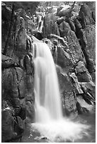 Chilnualna Falls, Wawona. Yosemite National Park ( black and white)