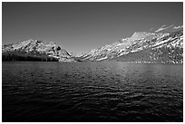 Tenaya Lake, afternoon. Yosemite National Park ( black and white)
