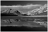 Spring thaw, Tenaya Lake. Yosemite National Park ( black and white)