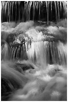 Cascades, Fern Spring. Yosemite National Park, California, USA. (black and white)