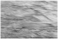 Water reflecting cliff colors. Yosemite National Park ( black and white)