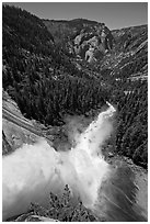Nevada Falls from the brinks. Yosemite National Park ( black and white)