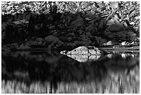 Rock and shadow, Vogelsang Lake. Yosemite National Park ( black and white)
