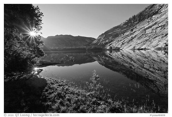 Sunrise, Merced Lake. Yosemite National Park (black and white)