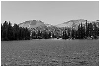 Lower Cathedral Lake. Yosemite National Park ( black and white)
