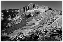 North Peak seen from McCabe Pass. Yosemite National Park ( black and white)