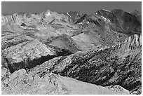 Distant view of Virginia Canyon. Yosemite National Park ( black and white)
