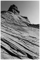 Sandstone swirls. Arches National Park ( black and white)