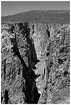 The Narrows, North rim. Black Canyon of the Gunnison National Park, Colorado, USA. (black and white)