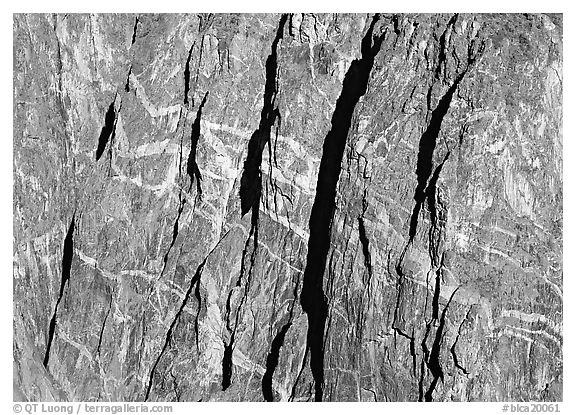 Detail of the Painted wall. Black Canyon of the Gunnison National Park (black and white)