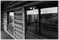 Visitor center windows. Black Canyon of the Gunnison National Park ( black and white)