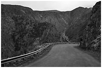 East Portal Road. Black Canyon of the Gunnison National Park ( black and white)