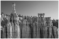 Thor Hammer and Temple of Osiris. Bryce Canyon National Park ( black and white)