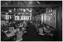 Dining room, Bryce Canyon Lodge. Bryce Canyon National Park ( black and white)