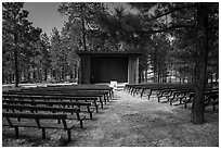 Amphitheater, North Campground. Bryce Canyon National Park ( black and white)