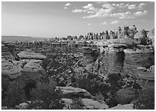Elephant Valley, sunset. Canyonlands National Park, Utah, USA. (black and white)