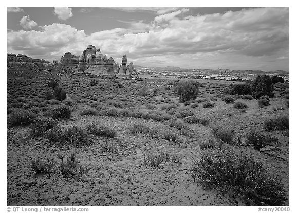 Chesler Park. Canyonlands National Park (black and white)