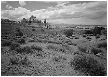 Chesler Park. Canyonlands National Park, Utah, USA. (black and white)