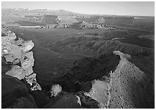 Dead Horse point at sunset. Canyonlands National Park ( black and white)