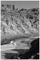 Cataract Canyon. Canyonlands National Park ( black and white)