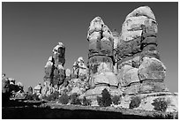 Dollhouse pinnacles, Maze District. Canyonlands National Park ( black and white)