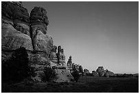 Dollhouse at dusk. Canyonlands National Park ( black and white)