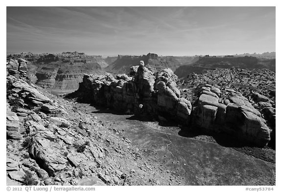 Surprise Valley, Maze District. Canyonlands National Park (black and white)