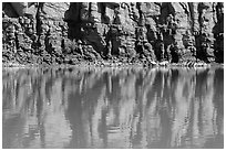 Cliffs reflections, Colorado River. Canyonlands National Park ( black and white)