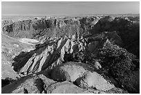 Crater of Upheaval Dome. Canyonlands National Park ( black and white)