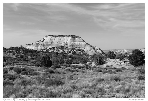 Aztec Butte. Canyonlands National Park (black and white)