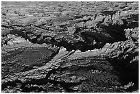 Aerial view of Needles. Canyonlands National Park ( black and white)