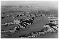 Aerial view of Squaw Flats, Needles. Canyonlands National Park ( black and white)