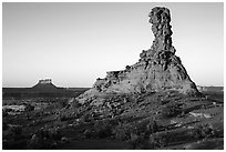Chimney Rock at sunset. Canyonlands National Park ( black and white)