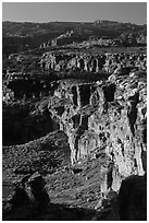 Cliffs near the Dollhouse. Canyonlands National Park, Utah, USA. (black and white)