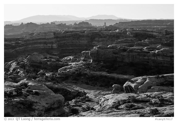 Jasper Cayon, early morning, Maze District. Canyonlands National Park (black and white)