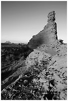 Bishops Member at sunset, Maze District. Canyonlands National Park ( black and white)