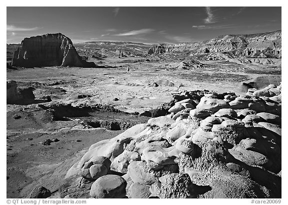 Lower South Desert. Capitol Reef National Park (black and white)