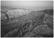 Waterpocket Fold from Halls Creek overlook, dawn. Capitol Reef National Park ( black and white)