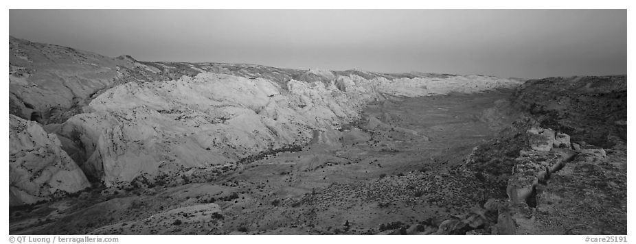 Waterpocket fold in pastel hues at dawn. Capitol Reef National Park (black and white)