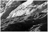 Waterpocket Fold and Red slide, sunrise. Capitol Reef National Park, Utah, USA. (black and white)