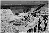 Navajo Sandstone domes across Waterpocket Fold. Capitol Reef National Park ( black and white)