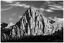 Pectol Pyramid, late afternoon. Capitol Reef National Park, Utah, USA. (black and white)