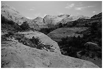 Fremont River Canyon at dusk. Capitol Reef National Park ( black and white)