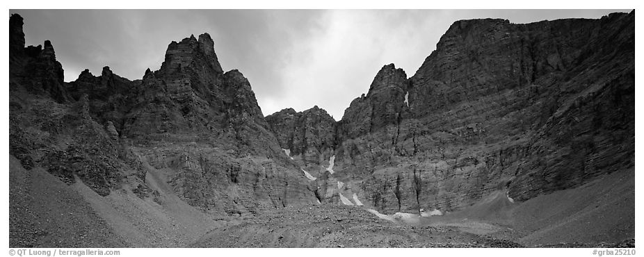 Mineral landscape, North Face of Wheeler Peak. Great Basin National Park (black and white)