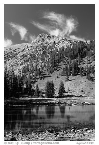 Stella Lake. Great Basin National Park (black and white)