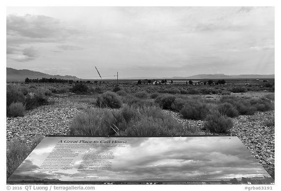 A Great Place to Call Home intepretive sign. Great Basin National Park (black and white)