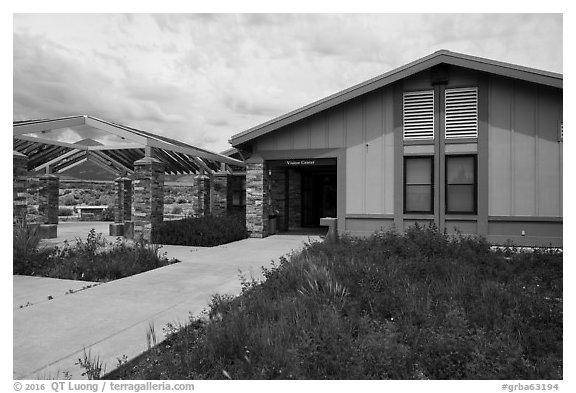Great Basin Visitor Center. Great Basin National Park (black and white)